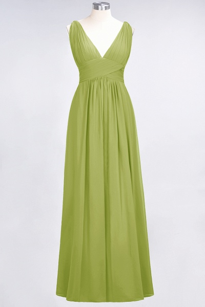 A-Line Chiffon V-Neck Sleeveless Floor-Length Bridesmaid Dress with Ruffle_32