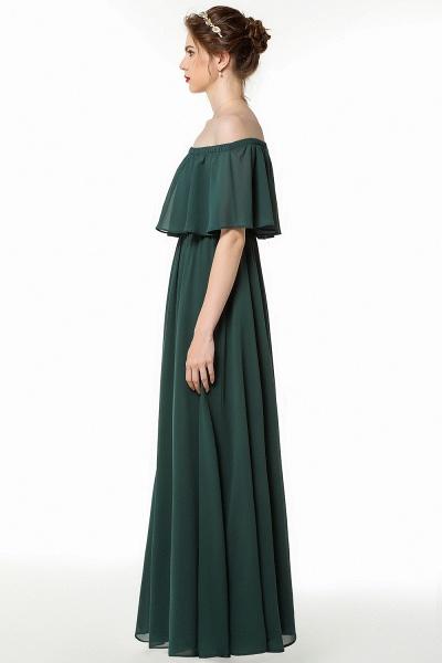 BM0827 Simple Off The Shoulder A-Line Long Bridesmaid Dress_3