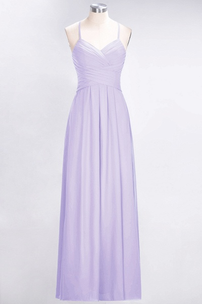 A-Line Chiffon Halter V-Neck Sleeveless Floor-Length Bridesmaid Dress with Ruffles_20