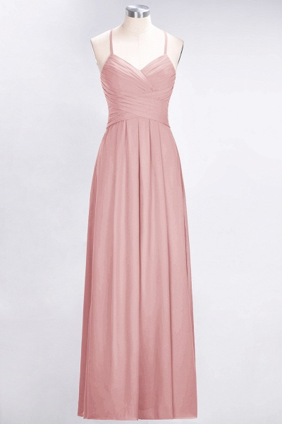 A-Line Chiffon Halter V-Neck Sleeveless Floor-Length Bridesmaid Dress with Ruffles_6