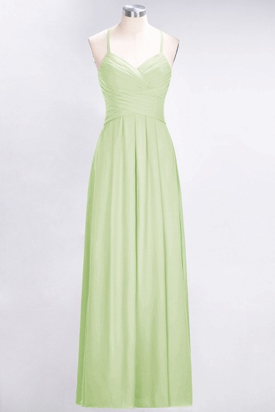 A-Line Chiffon Halter V-Neck Sleeveless Floor-Length Bridesmaid Dress with Ruffles_33