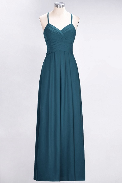 A-Line Chiffon Halter V-Neck Sleeveless Floor-Length Bridesmaid Dress with Ruffles_26