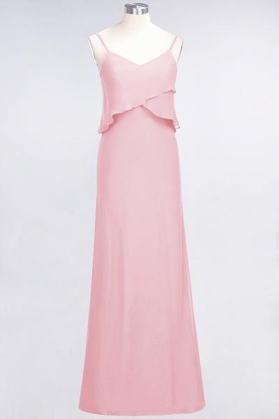 A-Line Chiffon Spaghetti-Straps V-Neck Sleeveless Floor-Length Bridesmaid Dress_4