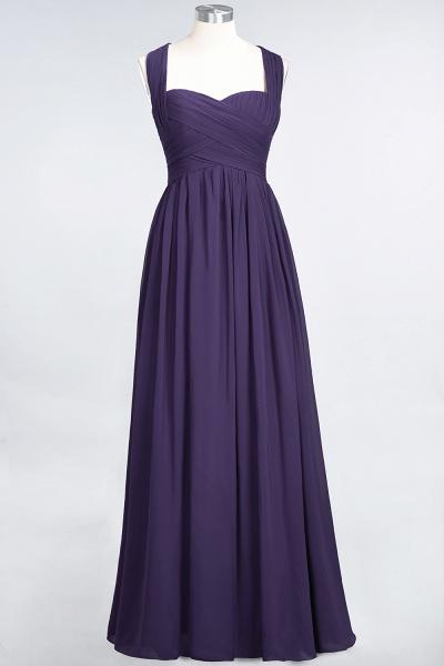 BM0420 Burgundy Simple Cap Sleeves Sweetheart Bridesmaid Dress_18