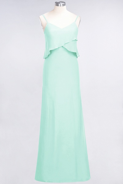 A-Line Chiffon Spaghetti-Straps V-Neck Sleeveless Floor-Length Bridesmaid Dress_34