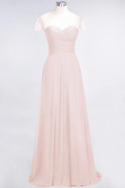 A-Line Chiffon Sweetheart Cap-Sleeves Ruffle Floor-Length Bridesmaid Dress with Beadings_5