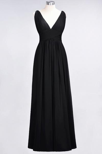 A-Line Chiffon V-Neck Sleeveless Floor-Length Bridesmaid Dress with Ruffle_28
