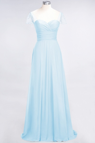 A-Line Chiffon Sweetheart Cap-Sleeves Ruffle Floor-Length Bridesmaid Dress with Beadings_22