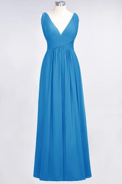 A-Line Chiffon V-Neck Sleeveless Floor-Length Bridesmaid Dress with Ruffle_24