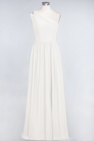A-Line Chiffon One-Shoulder Sleeveless Ruffles Floor-Length Bridesmaid Dress with Beadings_2
