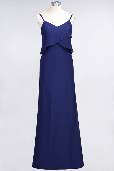 A-Line Chiffon Spaghetti-Straps V-Neck Sleeveless Floor-Length Bridesmaid Dress_25