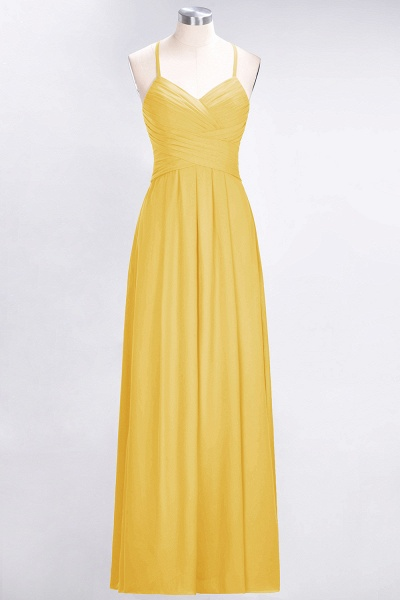 A-Line Chiffon Halter V-Neck Sleeveless Floor-Length Bridesmaid Dress with Ruffles_16