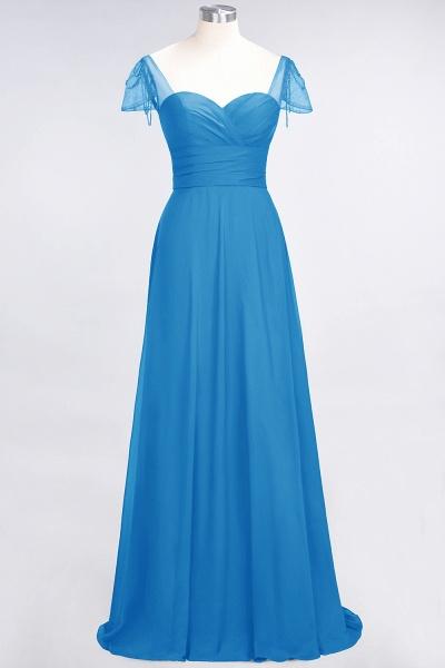 A-Line Chiffon Sweetheart Cap-Sleeves Ruffle Floor-Length Bridesmaid Dress with Beadings_24