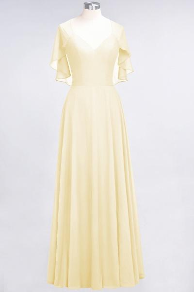 A-Line Chiffon Satin V-Neck short-sleeves Floor-Length Bridesmaid Dress_17
