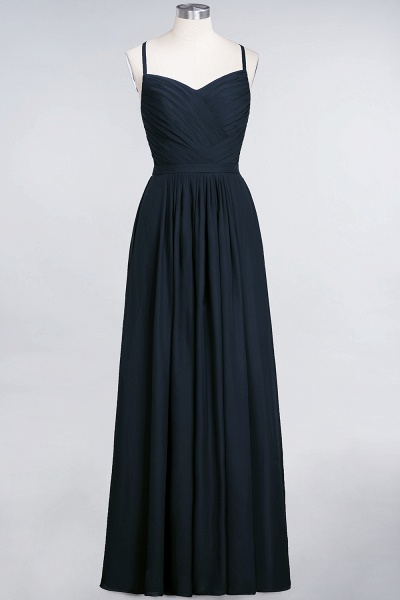 A-Line Chiffon Spaghetti-Straps Sweetheart Sleeveless Floor-Length Bridesmaid Dress with Ruffles_27