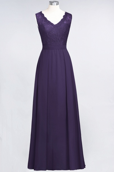 A-Line Chiffon Lace V-Neck Sleeveless Floor-Length Bridesmaid Dress_18
