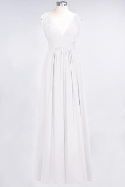 A-Line Chiffon V-Neck Sleeveless Floor-Length Bridesmaid Dress with Ruffle_1