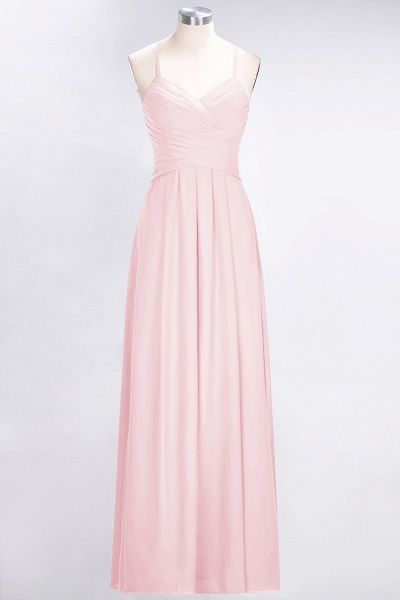 A-Line Chiffon Halter V-Neck Sleeveless Floor-Length Bridesmaid Dress with Ruffles_3
