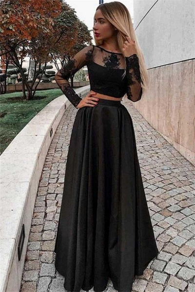 Eye-catching Jewel Appliques A-line Prom Dress_1