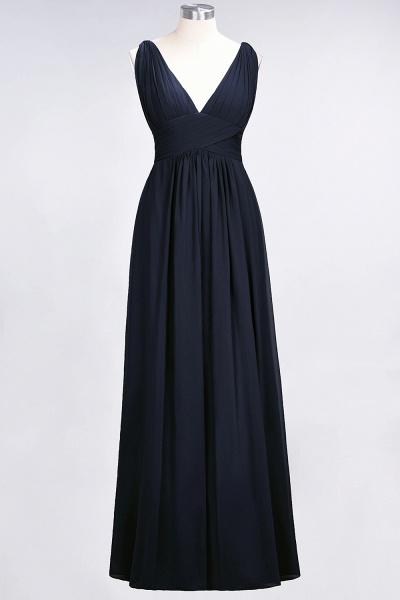 A-Line Chiffon V-Neck Sleeveless Floor-Length Bridesmaid Dress with Ruffle_27