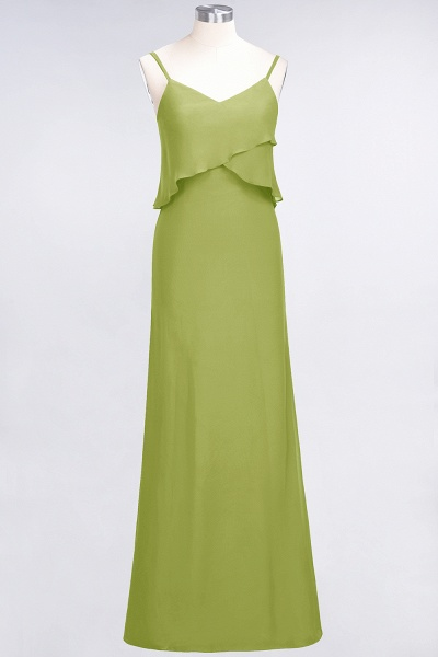 A-Line Chiffon Spaghetti-Straps V-Neck Sleeveless Floor-Length Bridesmaid Dress_32