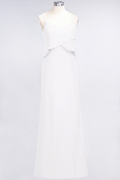 A-Line Chiffon Spaghetti-Straps V-Neck Sleeveless Floor-Length Bridesmaid Dress_1