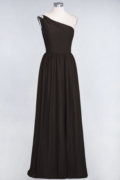 A-Line Chiffon One-Shoulder Sleeveless Ruffles Floor-Length Bridesmaid Dress with Beadings_11