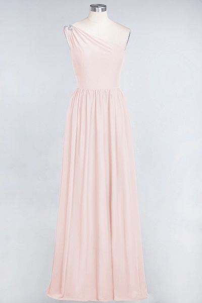 A-Line Chiffon One-Shoulder Sleeveless Ruffles Floor-Length Bridesmaid Dress with Beadings_5