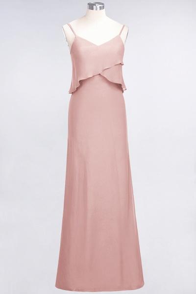 A-Line Chiffon Spaghetti-Straps V-Neck Sleeveless Floor-Length Bridesmaid Dress_6