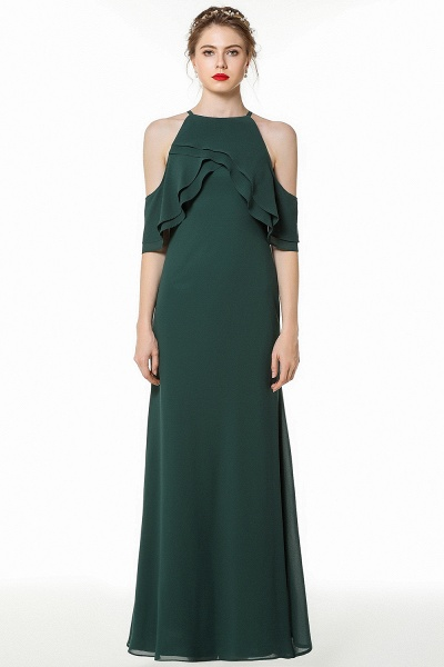 BM0825 Gorgeous Straps Dark Green Floor Length Bridesmaid Dress_1