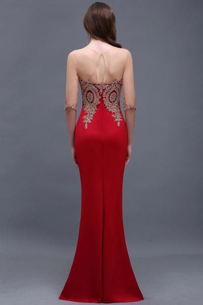 BM0131 Red Half Sleeves Appliques Mermaid Beads Bridesmaid Dresses_2
