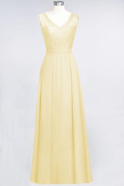 A-Line Chiffon Lace V-Neck Sleeveless Floor-Length Bridesmaid Dress_17