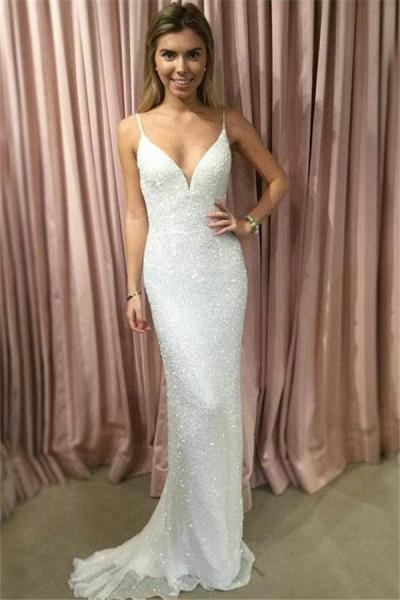 Chic Spaghetti Straps Mermaid Prom Dress_1