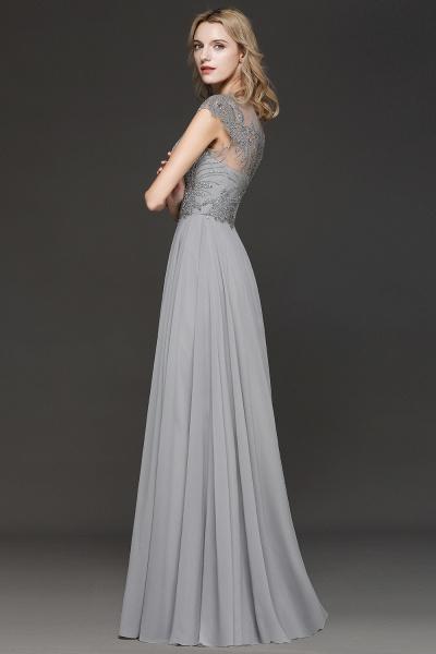 BM0755 Crystal Appliques Sweetheart Cap sleeves Side Slit Bridesmaid Dress_3