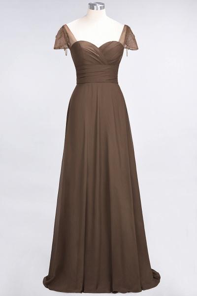 A-Line Chiffon Sweetheart Cap-Sleeves Ruffle Floor-Length Bridesmaid Dress with Beadings_12
