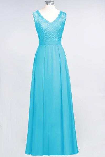 A-Line Chiffon Lace V-Neck Sleeveless Floor-Length Bridesmaid Dress_23