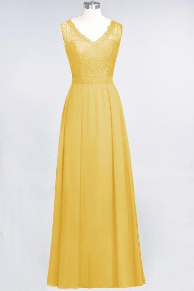 A-Line Chiffon Lace V-Neck Sleeveless Floor-Length Bridesmaid Dress_16