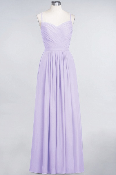A-Line Chiffon Spaghetti-Straps Sweetheart Sleeveless Floor-Length Bridesmaid Dress with Ruffles_20