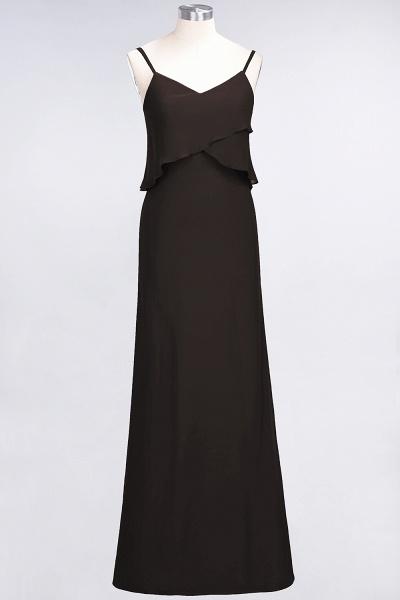 A-Line Chiffon Spaghetti-Straps V-Neck Sleeveless Floor-Length Bridesmaid Dress_11