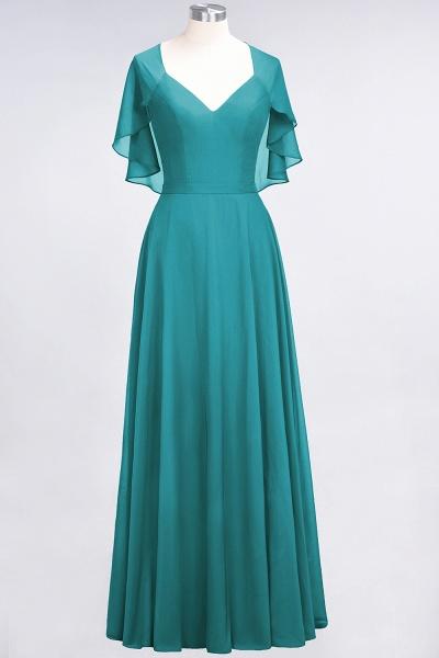 A-Line Chiffon Satin V-Neck short-sleeves Floor-Length Bridesmaid Dress_31