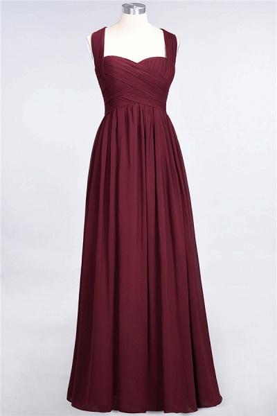 BM0420 Burgundy Simple Cap Sleeves Sweetheart Bridesmaid Dress_6