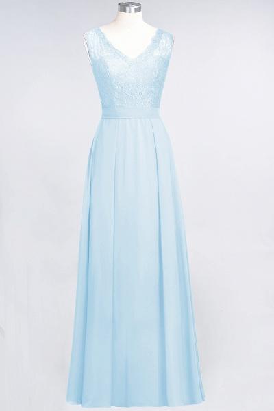 A-Line Chiffon Lace V-Neck Sleeveless Floor-Length Bridesmaid Dress_22
