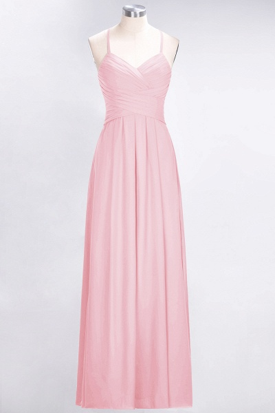A-Line Chiffon Halter V-Neck Sleeveless Floor-Length Bridesmaid Dress with Ruffles_4