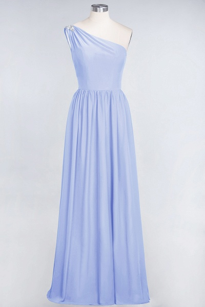 A-Line Chiffon One-Shoulder Sleeveless Ruffles Floor-Length Bridesmaid Dress with Beadings_21