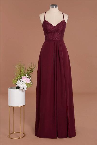 BM0753 Lace Spaghetti Straps A-Line Bridesmaid Dress_9