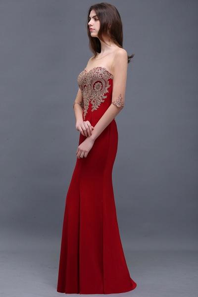 BM0131 Red Half Sleeves Appliques Mermaid Beads Bridesmaid Dresses_3