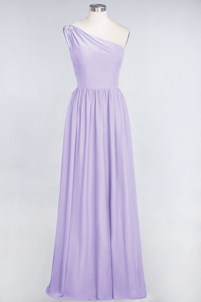 A-Line Chiffon One-Shoulder Sleeveless Ruffles Floor-Length Bridesmaid Dress with Beadings_20