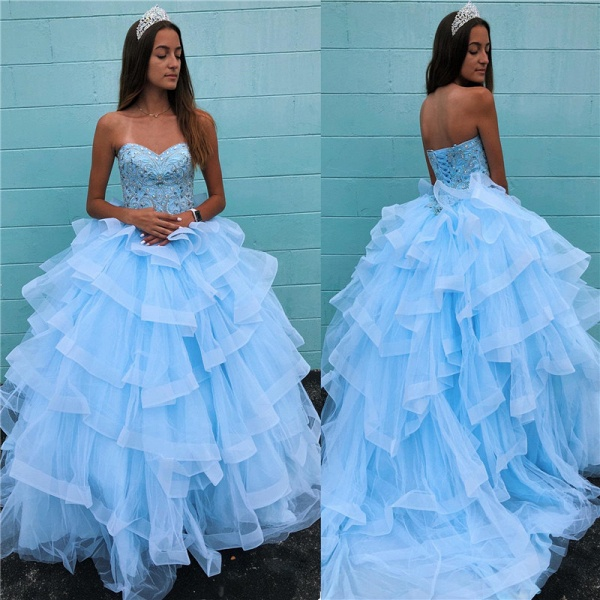 Awesome Sweetheart Tulle Ball Gown Quinceanera Dress_3