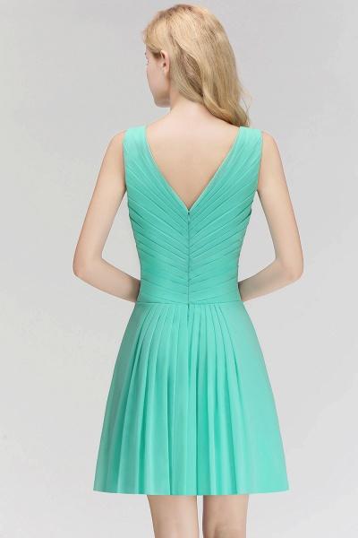 BM0061 A-line Ruffles Sexy V-Neck Sleeveless Short Bridesmaid Dress_2