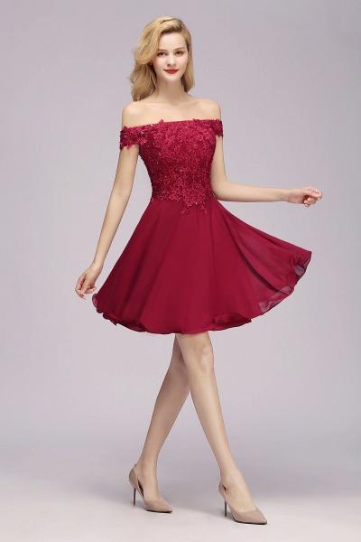 BM0793 Elegant Lace Off-the-Shoulder Short Bridesmaid Dress_4